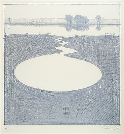 silver landscape by wayne thiebaud
