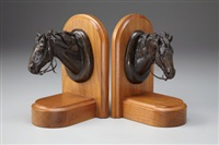 horse head bookends by george b. marks