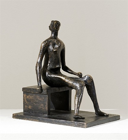 seated girl by henry moore