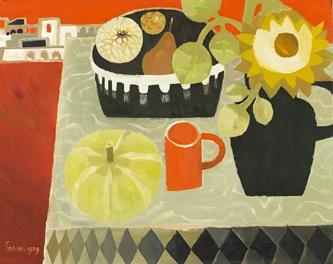 pumpkin and sunflower by mary fedden