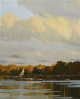 autumn sail on the lake by carolyn walton