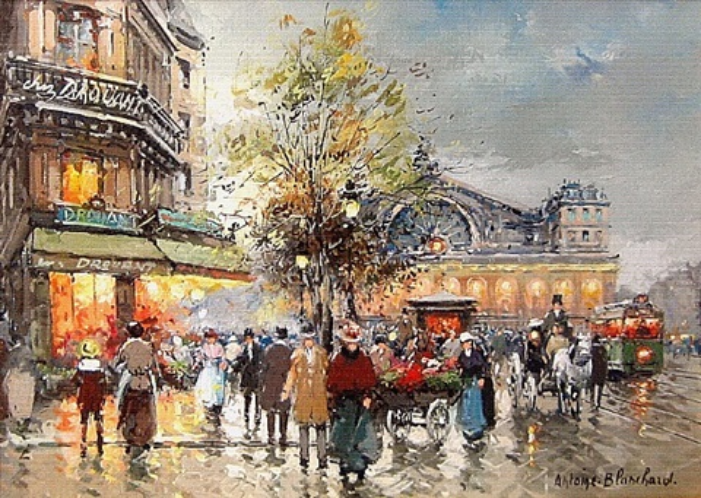 la gare, boulevard strasbourg by antoine blanchard