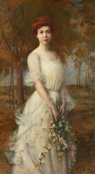 portrait of a lady by carle john blenner