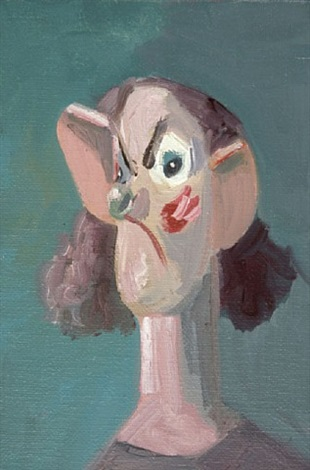 alone with a view by george condo
