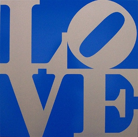 book of love (silver/blue) by robert indiana