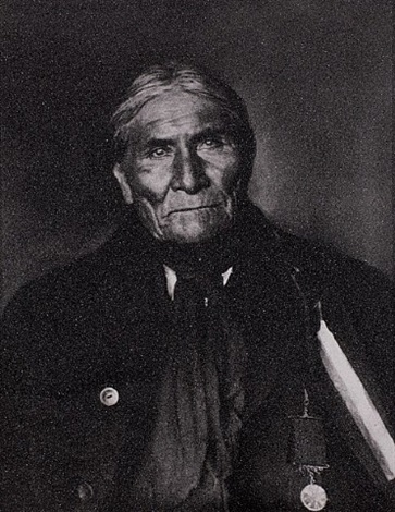apache chief - geronimo by russell young