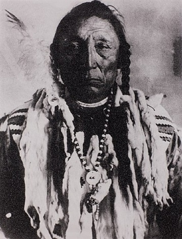 siksika chief - curley bear by russell young