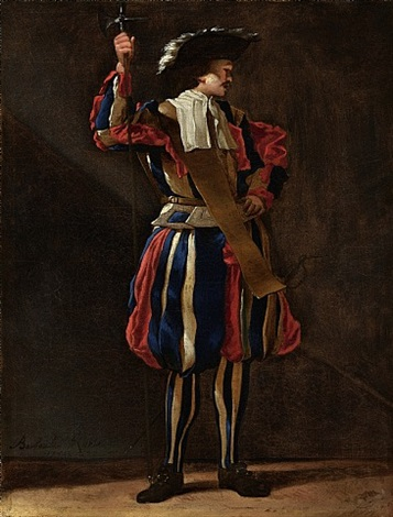 a swiss guard by jean barbault