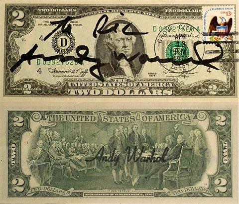 two dollars jefferson by andy warhol