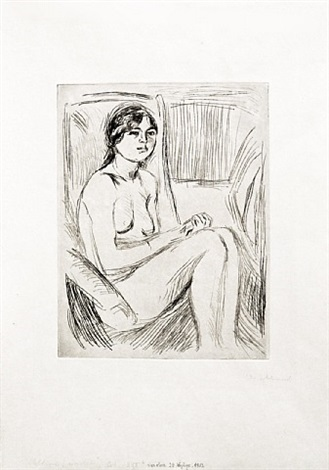 celline naken (celline nude) by edvard munch
