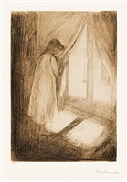 piken ved vinduet (the girl at the window) by edvard munch