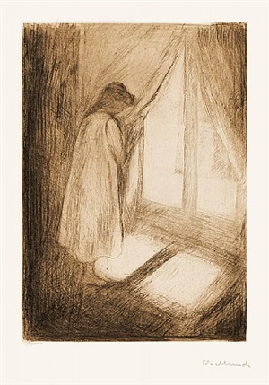 piken ved vinduet (the girl at the window) by edvard munch