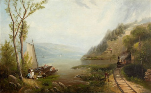 the hudson at bear mountain by george loring brown