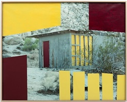 untitled (house, red and yellow, joshua tree, ca) by sam falls