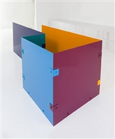 untitled (blue, burgundy, cobalt, tangerine, teal, #1) by sam falls