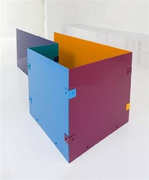 untitled (blue, burgundy, cobalt, tangerine, teal, #1) by sam falls