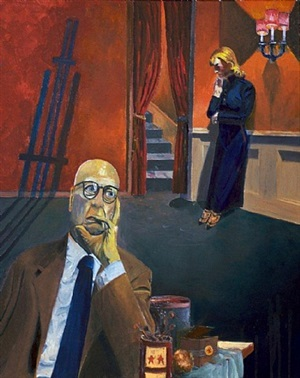 edward hopper i (from the artist's space series) by gene cooper