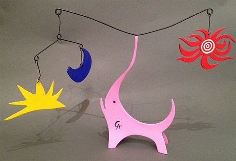 the pink elephant by alexander calder