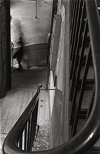 blur woman's body stairway, paris by clay davidson