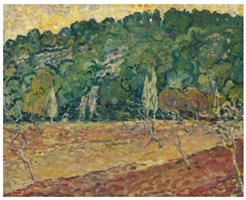 verger decant la colline by louis valtat