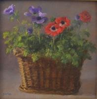 anemones in a basket by susan jositas