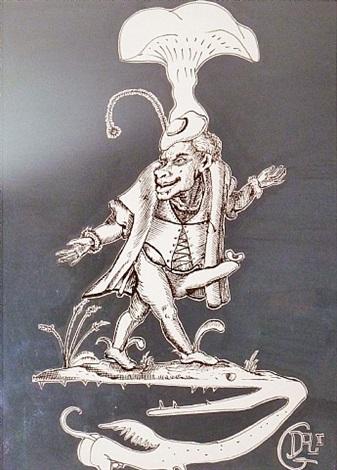 pantagruel – figure au champignon sur phenix denté by salvador dalí