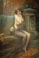 the muse of autumn by delphin enjolras