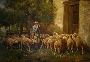 the return of the flock by charles émile jacque