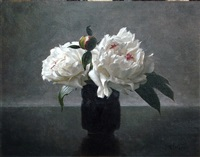 peonies in black (sold) by lisa gloria