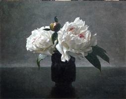 peonies in black (sold) by lisa gloria