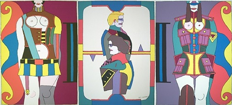 changing sexuality (triptych) by richard lindner