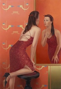 spiegelbild rot by almut heise