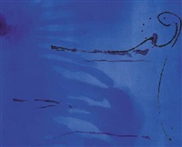 blue current by helen frankenthaler