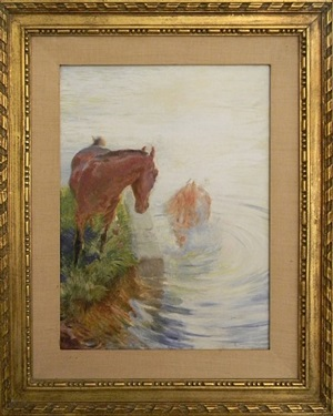 untitled (horses) by paul-albert besnard