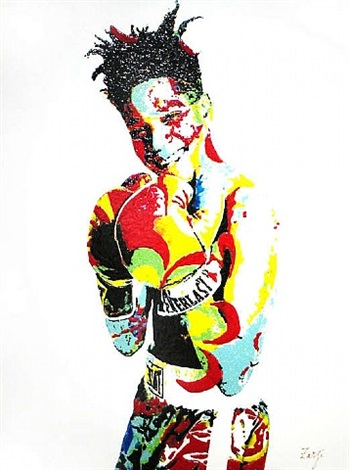 fight for love - basquiat by richard zarzi