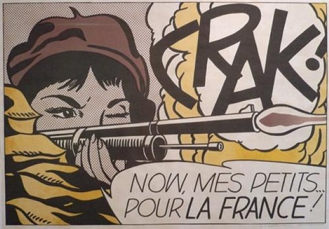 crak! now, mes petits ... pour la france! by roy lichtenstein