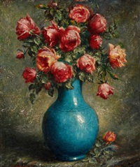 still life with roses by adolfo felice müller-ury