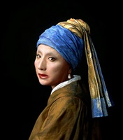 vermeer study: looking back (mirror) by yasumasa morimura