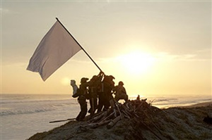 gift of sea: raising a flag on the summit of the battlefield by yasumasa morimura