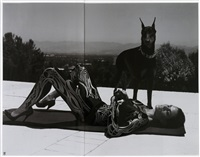 untitled (cindy crawford & doberman) by jean-luc moerman