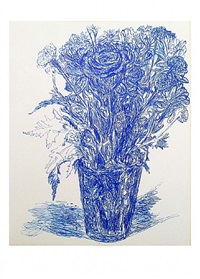 untitled, blue flowers by peter labier