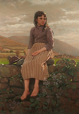 waiting by john george brown