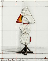 wrapped road sign, project h (schellmann & benecke 134) by christo and jeanne-claude