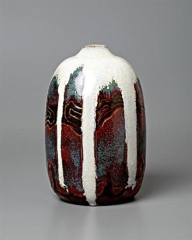 japonist landscape vase by raoul lachenal
