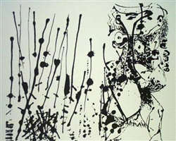 untitled (based on the painting cr324) by jackson pollock