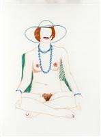 monica crosslegged with beads by tom wesselmann