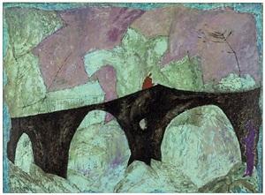 the anglers (black bridge) by lyonel feininger