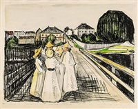 auf der brücke / on the bridge by edvard munch