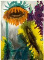 sonnenblumen und gladiolen / sunflowers and gladioli by emil nolde