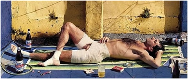 tomando sol en la terraza by marcos lópez